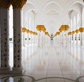 大理石大厅在清真寺 免版税库存图片