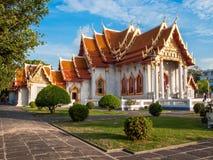 大理石寺庙, Wat Benchamabopit Dusitvanaram在曼谷, Th 库存图片
