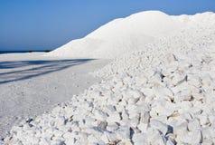 大理石小卵石堆 免版税库存照片
