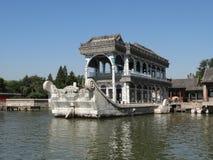 大理石小船在颐和园 免版税库存图片