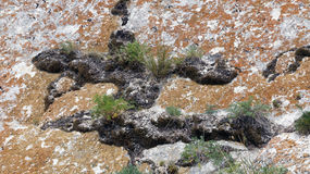 大理石岩石断层块 图库摄影