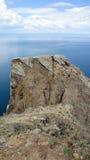 大理石岩石断层块 免版税库存照片