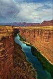 大理石峡谷在可可尼诺县,亚利桑那 库存照片
