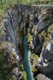 大理石峡谷在库特尼国家公园 库存照片