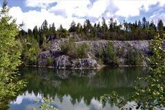 大理石峡谷风景 库存图片