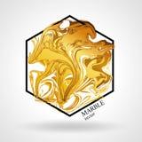 大理石抽象几何标志六角形 免版税图库摄影