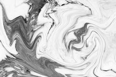 大理石抽象自然大理石黑白设计的 免版税库存照片