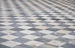 大理石方形的地板 免版税库存照片