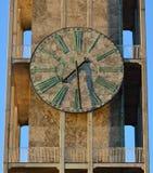 大理石时钟,市政厅塔,奥尔胡斯丹麦 库存图片