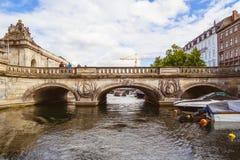 大理石桥梁在哥本哈根 库存照片