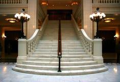大理石楼梯 免版税库存图片