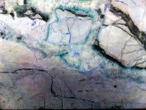 大理石水色花岗岩宝石颜色纹理和裂缝  免版税库存图片