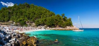 大理石海滩 免版税图库摄影