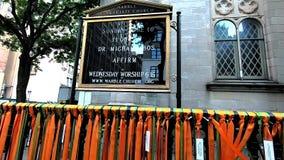 大理石牧师会主持的教堂,第五大道NYC 股票视频