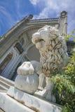 大理石狮子在沃龙佐夫宫殿 库存照片