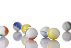 大理石玩具白色 免版税库存照片