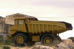 大理石的提取的卡车、沙子和其他建筑材料和矿物 库存图片
