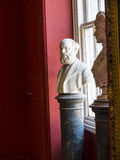 大理石胸象展览在团博物馆在城市博物馆在兰卡斯特英国在城市的中心 图库摄影
