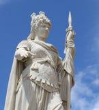 大理石自由女神像细节与长矛的在圣马力诺 库存照片