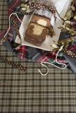 大理石花纹蛋糕圣诞节 免版税图库摄影