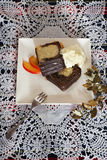 大理石花纹蛋糕圣诞节 库存照片