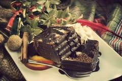 大理石花纹蛋糕圣诞节 库存图片
