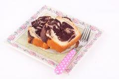 大理石花纹蛋糕 库存图片