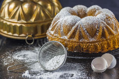 大理石花纹蛋糕 免版税库存照片