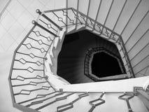 大理石螺旋形楼梯 图库摄影