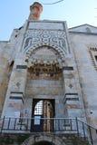 大理石被绣的入口门 免版税库存图片
