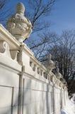 大理石议院庄园墙壁在Bellevue大道,纽波特,康涅狄格的 库存图片