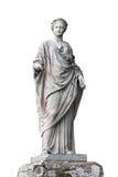 大理石象罗马蜡膜或希腊得墨忒耳 免版税库存照片