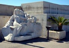 大理石象,波尔托阿祖罗,在厄尔巴岛海岛,意大利 免版税库存照片