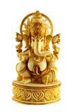 大理石象ELEPHANTHEADED印度神GANAPATHI开会 免版税库存图片