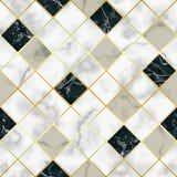 大理石豪华几何无缝的样式 向量例证