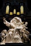 大理石巴洛克式的雕塑 库存图片