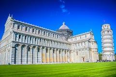 大理石建筑学在比萨,意大利 库存照片