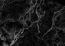 黑大理石仿造了纹理背景,从自然的详细的真正大理石 免版税图库摄影