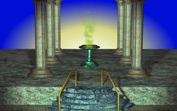 大理石columnes 库存图片