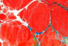 大理石ebru五颜六色的丙烯酸酯的倾吐的样式背景 免版税库存照片