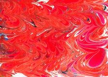 大理石ebru五颜六色的丙烯酸酯的倾吐的样式背景 库存照片