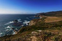 大瑟尔加利福尼亚海岸视图 免版税图库摄影