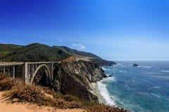 大瑟尔加利福尼亚海岸视图 库存图片