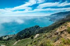 大瑟尔太平洋海岸线 图库摄影