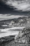 大瑟尔岩石海岸在加利福尼亚 免版税库存照片