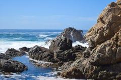 大瑟尔海湾,路1,加利福尼亚,美国 图库摄影