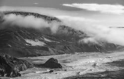 大瑟尔,加利福尼亚海岸线  免版税图库摄影