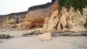 大瑟尔,加利福尼亚,美国- 2014年10月7日:远足沿太平洋的道路在Garrapata国家公园,特写镜头 图库摄影