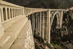 大瑟尔Bixby小河桥梁 免版税库存图片