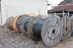大电缆卷筒 免版税库存照片